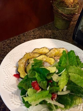 Quick roasted veggie dinner