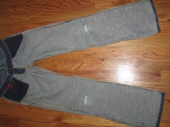 Old jeans to boyfriend jeans upcycle