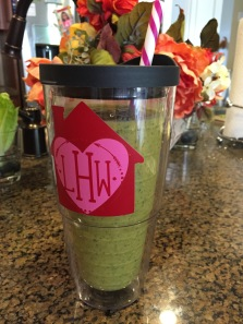 Green pumpkin smoothie!