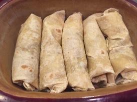 Organic asian burritos with edamame!
