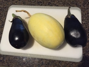 Spaghetti Squash and Eggplant Parmigiana