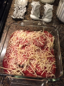 Eggplant Parmigiana with Spaghetti Squash